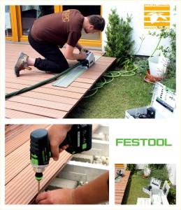 Poldeck WPC pracujemy z narzędziami Festool