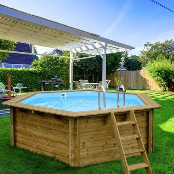 przydomowy basen z kompozytu drewna lub drewna