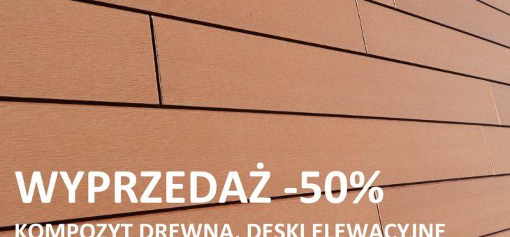 Cena kompozytu drewna spada o 50% na wyprzedaży