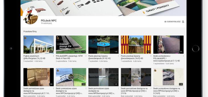 Kompozyt drewna w praktyce, czyli kanał YouTube POLdeck WPC