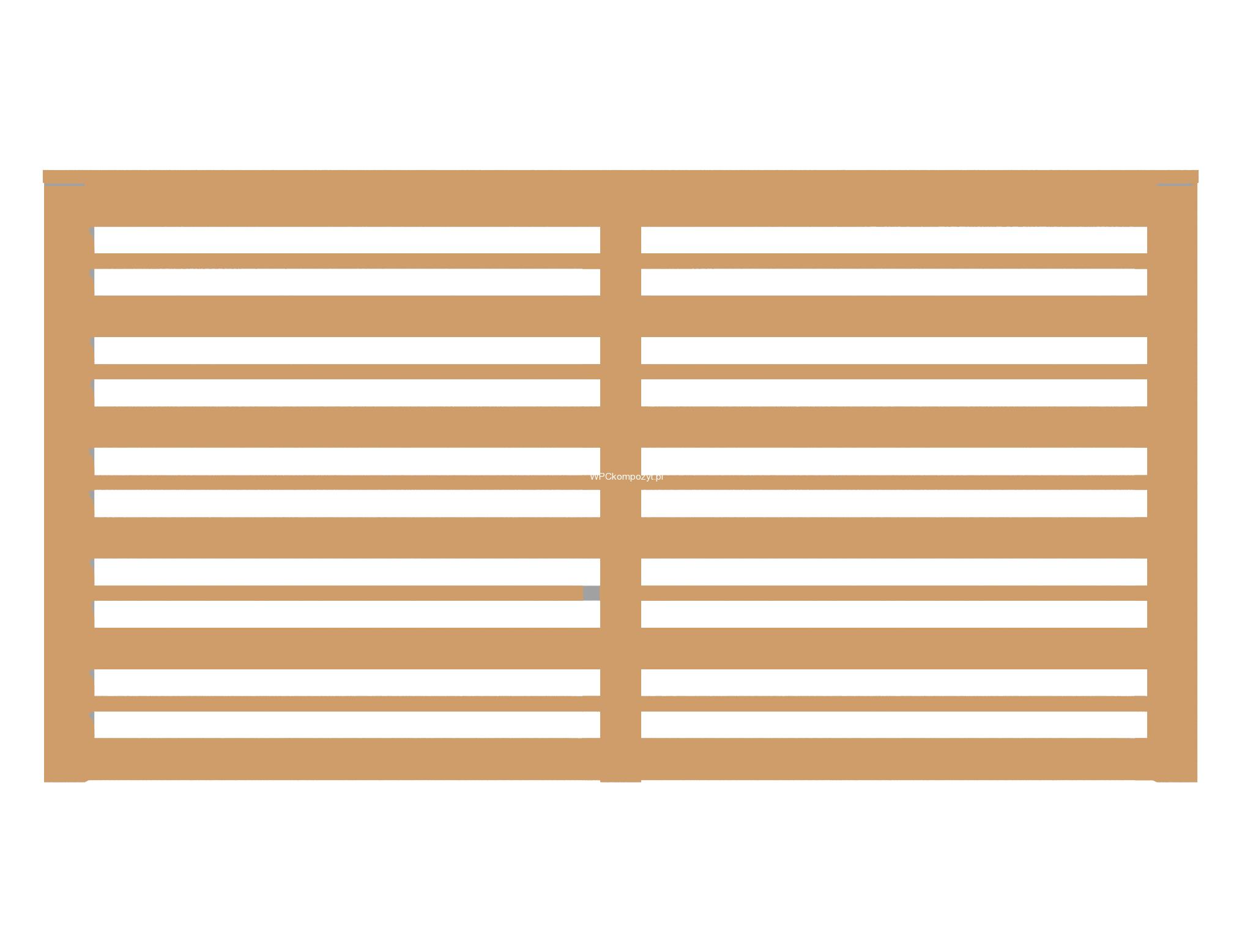 Masywnie BALUSTRADY Z KOMPOZYTU - Tarasy, elewacje, ogrodzenia - kompozyt MK13